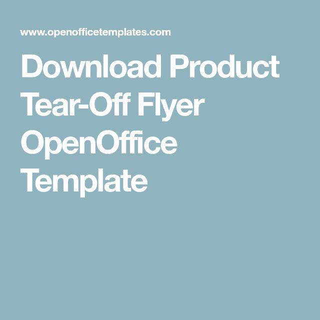 tear off flyer template open office