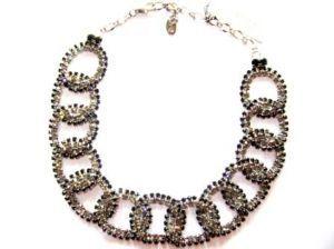 Swarovski crystal link necklace