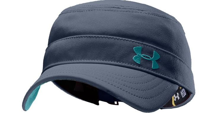 Under Armour cadet hat with moisture wicking sweat band...perfect for dealing with my short hair when I work out.
