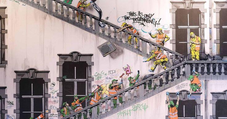 Travesuras del personal de limpieza urbana imaginadas por Jaune  Os acordáis de las miniaturas callejeras de Slinkachu? Hoy os traigo a Jonathan Pauwels Jaune un artista belga que me las ha recordado mucho. Solo que en esta ocasión no se trata de miniesculturas sino de graffitis. Sus personajes son casi siempre los mismos: personal del servicio de limpieza urbana. El propio Jaune trabajo en []  El artículo Travesuras del personal de limpieza urbana imaginadas por Jaune ha sido escrito por…