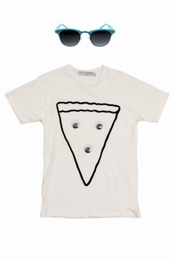 andrew kuo for opening ceremony googly eye pizza t-shirt