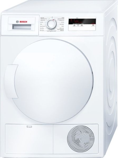 Bosch WTH83000GB Heat Pump Dryer, 8kg Capacity, A+ Energy. Fully electronic control dial makes using the product easy for all users. Sensitive drying uses a galvanised drum to achieve soft, even drying. Touch control settings include, start/pause, reduced ironing, 24 hour time delay. These are perfect for making the tumble dryer easy to use. 2 years guarantee.