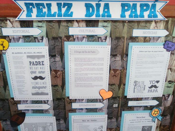 Periodico mural para el dia del padre con los contenidos for El periodico mural y sus secciones