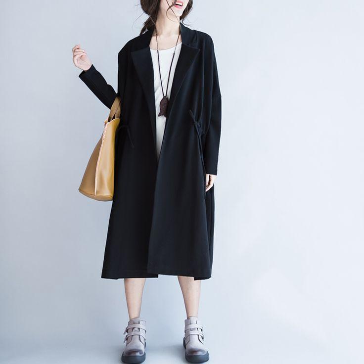モッズコート ボタンレス 衿付き ノーカラー ラペル付き アウター 羽織り 無地 大人 上品 シンプル レディース