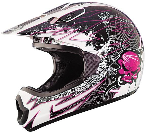 THH TX-10 Web Pink Full Face Motorcross Racing Dirt Bike Helmet