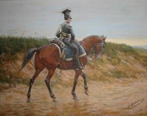 Jan Rosen - Ułan Na Koniu, 1910 R.