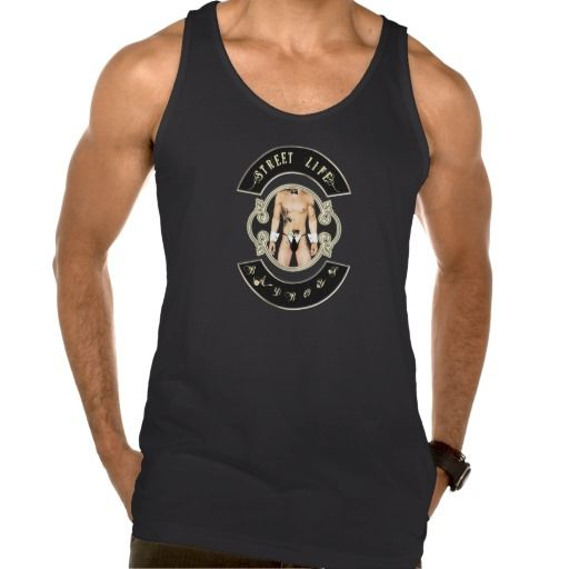 BadBoys gold logo with man with a gun in his pants Tank