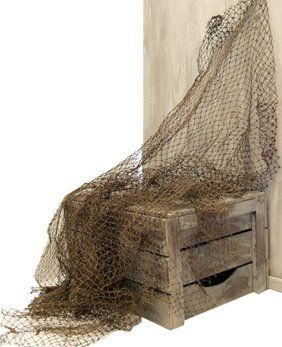 Decorating With Fishing Nets article with some practicle uses for organization with fishing nets.