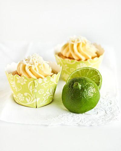Coconut Chiffon Cupcakes & Lime Curd