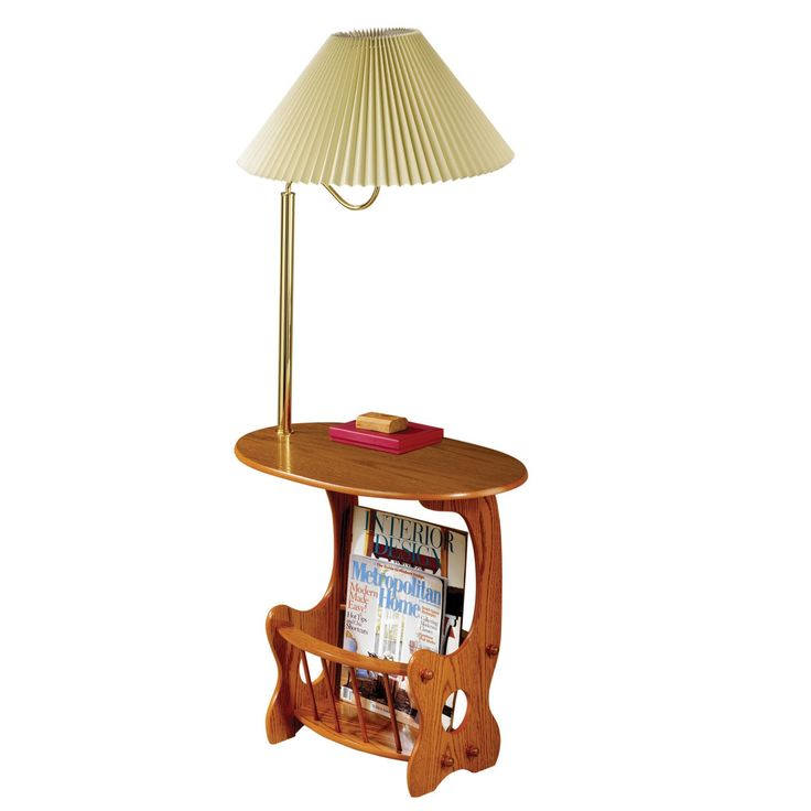 Coaster Company Brass and Oak Magazine Table with Built In Lamp by Coaster. Best 25  End table with lamp ideas on Pinterest   Side tables