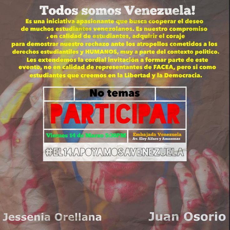 Apoyo en Manifestación por Venezuela