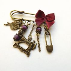 """Broche vintage, """"passion couture"""""""