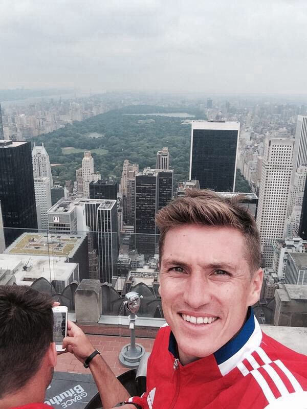 Tobi Schweinsteiger! Basti's brother visiting New York with the Club. He's playing for Bayern Munich's Second