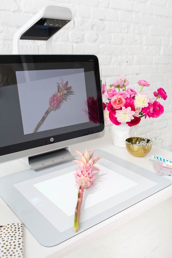 sprout computer and scanner makes mood boards easy #SproutbyHP #CIY