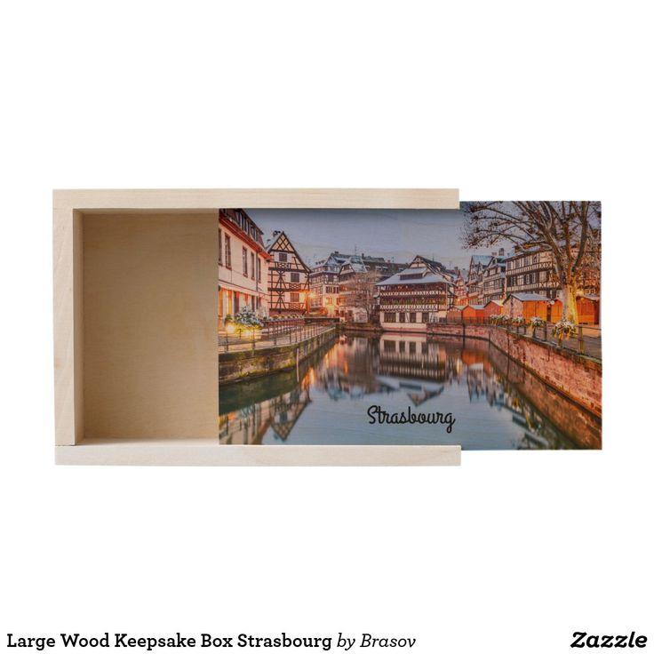 Large Wood Keepsake Box Strasbourg