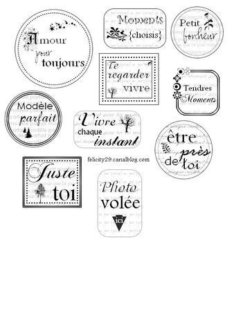 étiquette à imprimer by Félicity