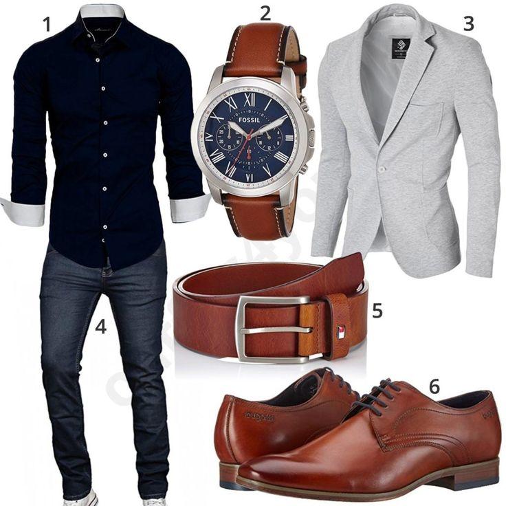 Business-Style mit Jeans, Uhr, Sakko und Hemd (m0917) – paul schatton