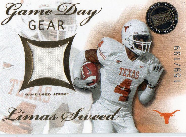 2008 Press Pass SE Limas Sweed Game Used Jersey Card #D/199 Pittsburgh Steelers