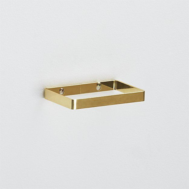 brushed brass towel ring | CB2