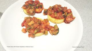 Polenta with Roasted Vegetables in Marinara Sauce