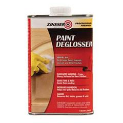 Saves time & mess. Easier than sanding!!! Paint Deglosser by Zinsser prepares dirty or glossy surfaces for new paint or finish. Eliminates the need for sanding and cleans surfaces to minimize chipping, cracking and peeling between old and new finishes.  Works on latex or oil-base paints, enamels, varnishes and other finishes. Increases adhesion. Helps new paint bond to old finishes. Cleans and removes dirt, stains, grease & wax.