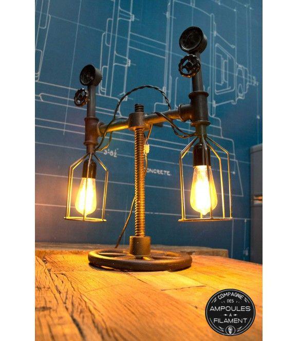 Lampe Compteur A Poser Luminaire Edison Ampoule Filament