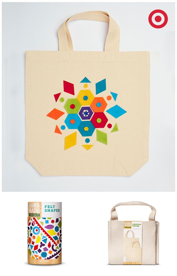 fdec3d1179 It's fun and easy to make your own personalized tote bag with Hand Made  Modern craft supplies. Start with a plain canvas bag and app… | DIY  Inspiration ...