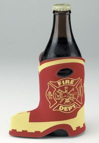 Firefighter Boot Bottle Coozy