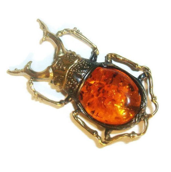 15% SALE Insect Beetle brooch Insect jewelry Amber jewelry Scarab jewelry beetle jewelry Amulet Scarab brooch pin Amber Brooch gift Women Men stylish