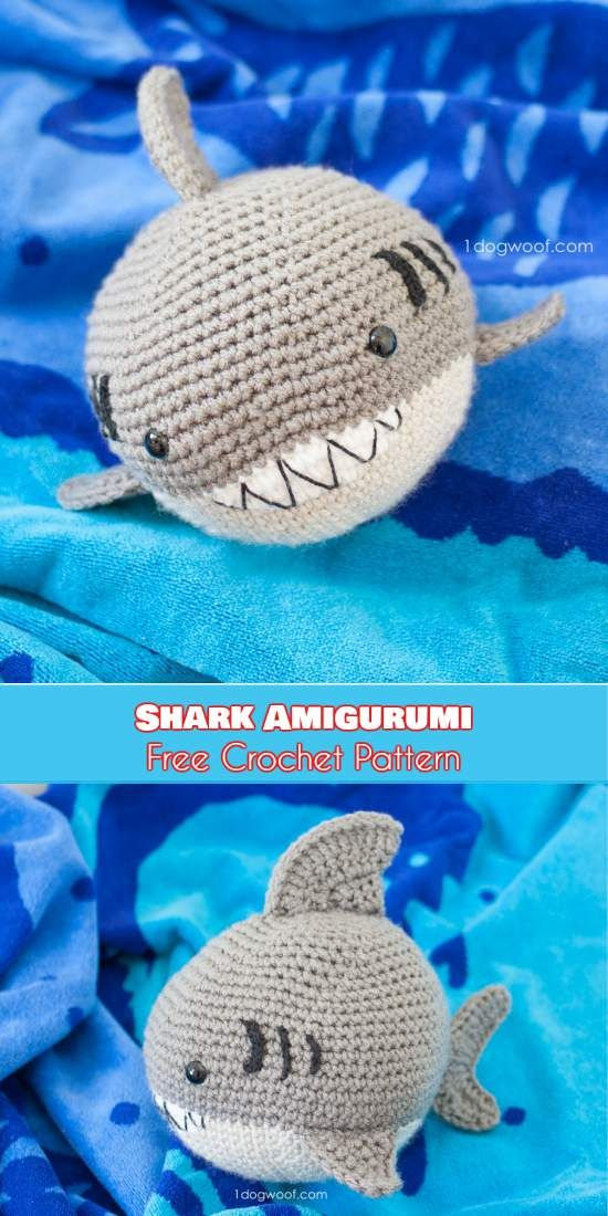 Shark Amigurumi - Crochet Padrão Livre