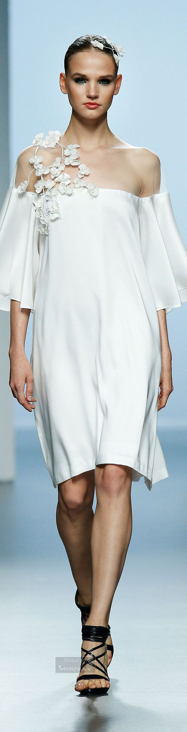 Juana Martin S/S 2015 white dress ~Touches of Color~