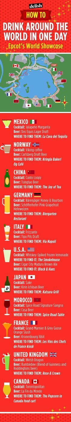 Here's Your Ultimate Guide To Drinking Around the World At Epcot - http://Delish.com