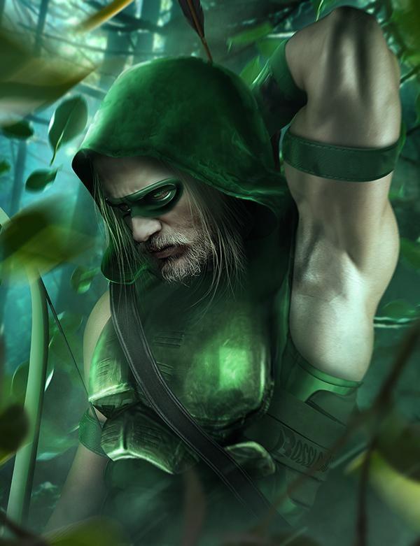 Charlie Hunnam as Green Arrow by BossLogic