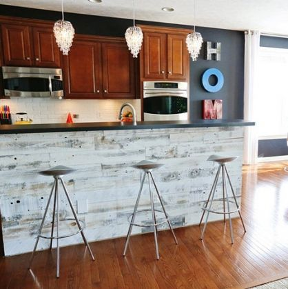 Stikwood Adhesive Wood Panels instantly transform walls, backsplashes,  headboards and ceilings. - 51 Best Stikwood/ Reclaimed Wood LOVE Images On Pinterest