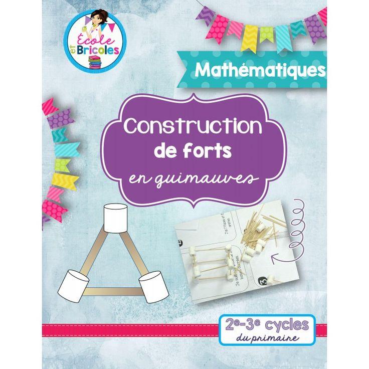 Géométrie-Construction de forts en guimauves