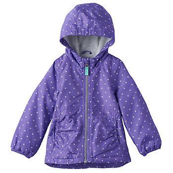 Baby Girl Carter's Fleece-Lined Lightweight Polka-Dot ...