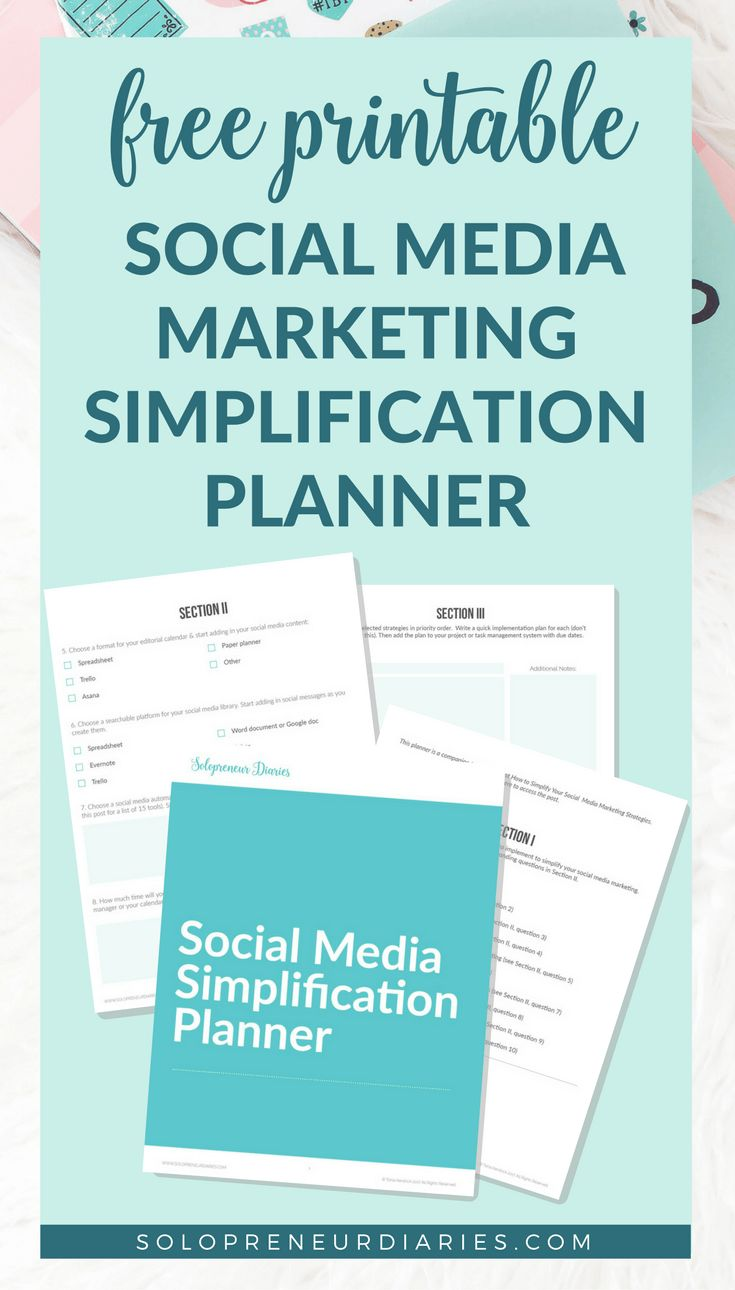 Is your social media marketing strategy too complicated? Here are 10 tips and ideas to help small businesses and entrepreneurs keep it simple.  Plus, grab a free printable social media simplification planner! | Business | Entrepreneur | #socialmediamarketingtips