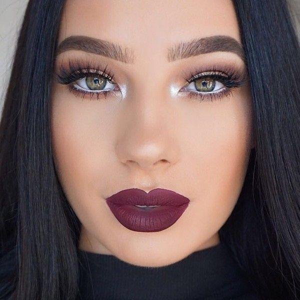 "Anastasia Beverly Hills on Instagram: ""Beautiful look @klaudiabadura BROWS: #DipBrow in Medium Brown EYES: #AbhShadows – Dusty Rose and Aubergine GLOW: Gleam #GlowKit LIPS:…"" featuring polyvore beauty products"