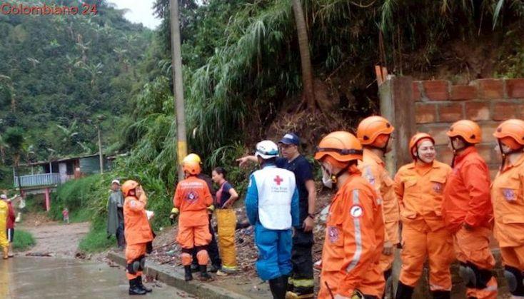 Emergencia en Dosquebradas (Risaralda) tras las fuertes lluvias