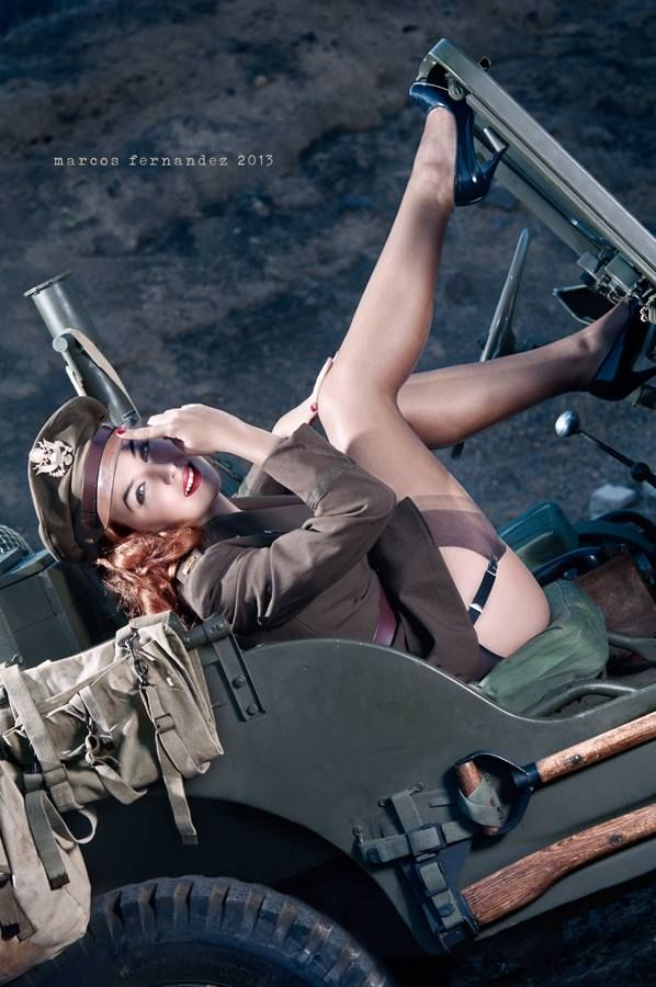 Army pin up Nude