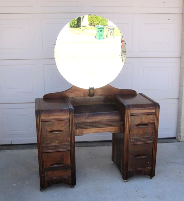 art bedroom furniture. vintage 1930s art deco vanity retro wood bedroom furniture pick up in palm springs