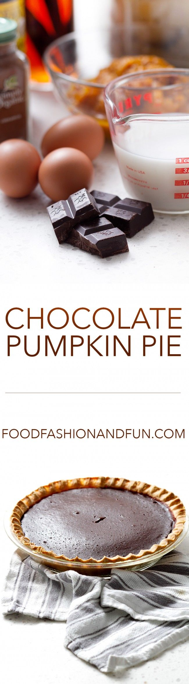 Includingchocolate is a nice variation on a traditional pumpkin pie. If you like chocolate then this will be a welcome addition to your Thanksgiving or holiday meal. The chocolate makes this pie s…
