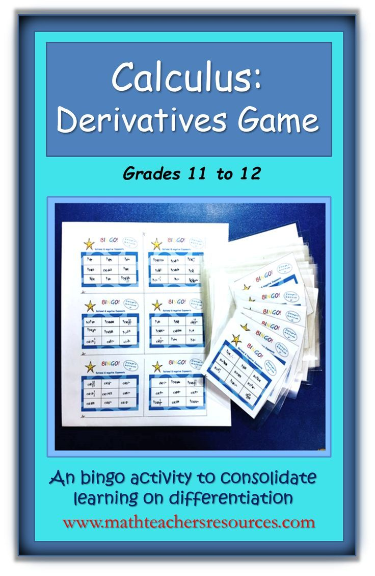 Calculus Differentiation Using Chain Rule Game Calculus High School Calculus Chain Rule
