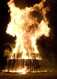 Aggie Bonfire was a long-standing tradition at Texas A University as part of a college rivalry with the University of Texas at Austin, known as t.u. by Texas A students.