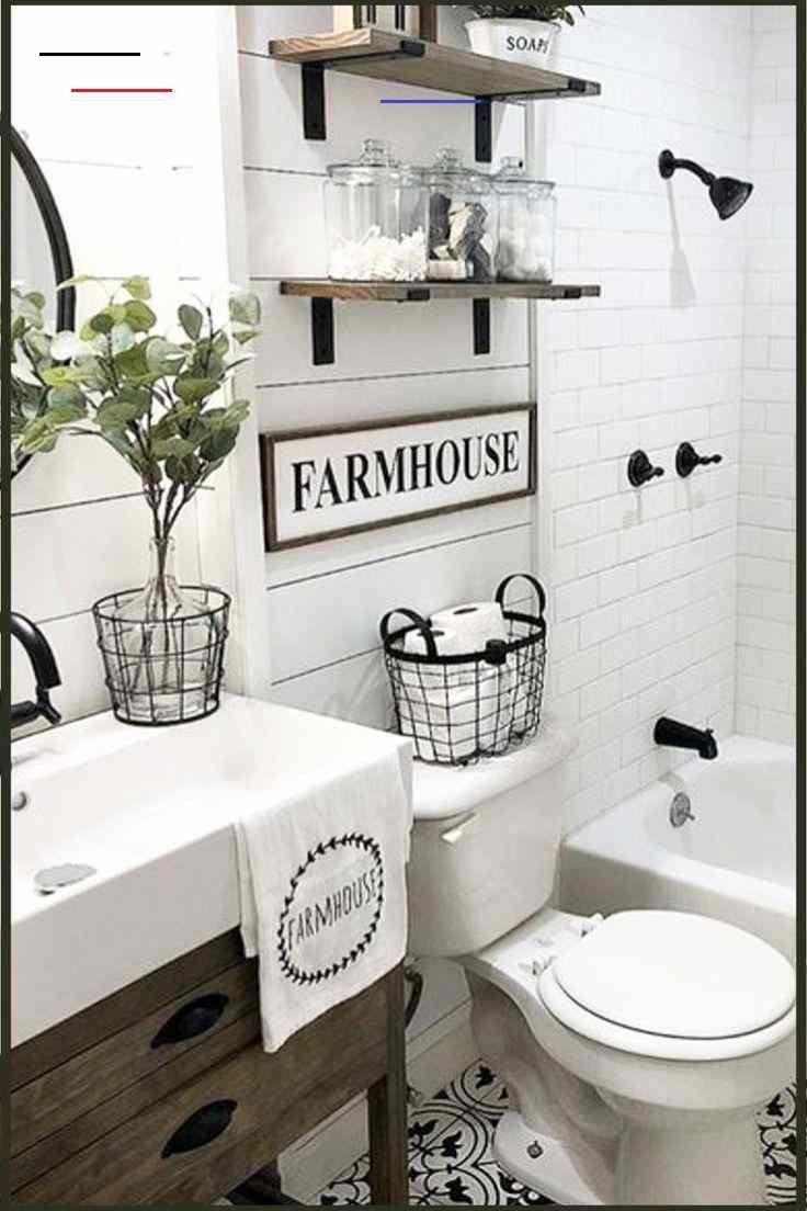 Country Farmhouse Bathroom Ideas We Love Rusticfarmhouse Small Bathroom Shelf Ideas For C Idee Salle De Bain Decoration Salle De Bain Salle De Bain Design