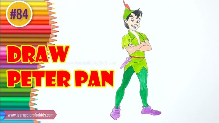 how to draw peter pan and wendy step by step