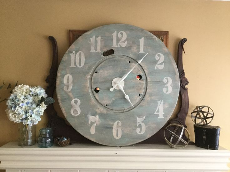 Extra Large Coastal/Beach style wall clock by RescuedStyle on Etsy