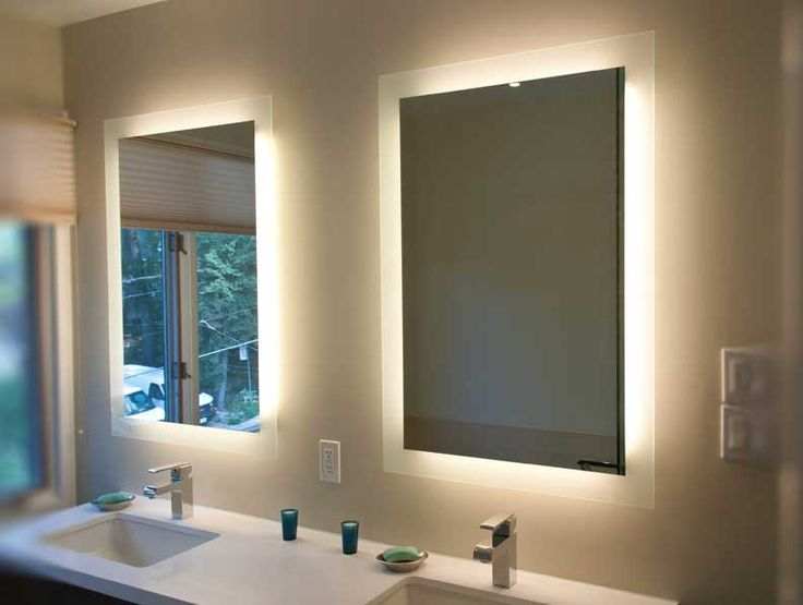 Bathroom Mirrors Ideas Back Lighted Design