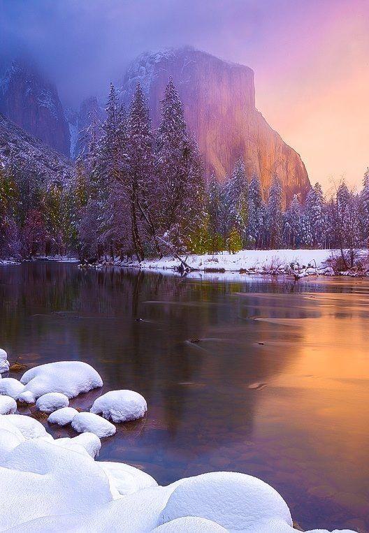 El Capitan at Winter, Yosemite National Park, California