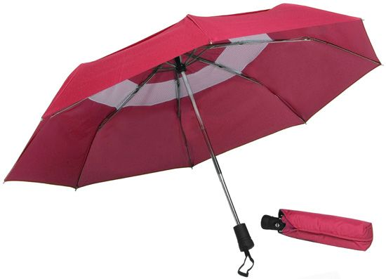 """""""42"""""""" Georgetown Folder Mini Umbrella Red"""": """"The Windbrella 42"""""""" Georgetown Folder Mini Umbrella stands up to high wind gusts with the…"""